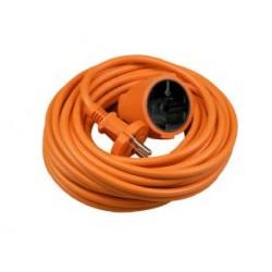 Oranje Verlengkabel 10 meter 2x1mm H05VV