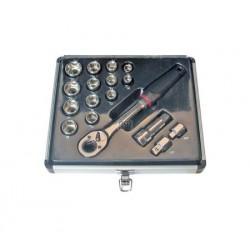 """Doorsteek dopsleutelset 16-delig 10-24 mm 1/2"""" aansluiting"""