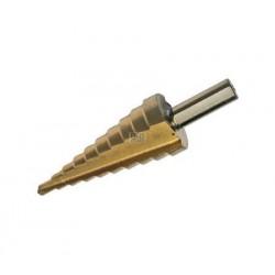 Trappenboor 4-22 mm (2mm stijgend) titaan belegd