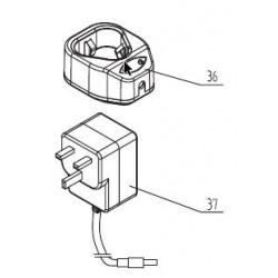 102912 Lader compleet UK 12V 400mA UK plug 3-5H 5mm plug