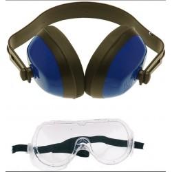 Oorbeschermer / gehoorbeschermer met vuurwerkbril