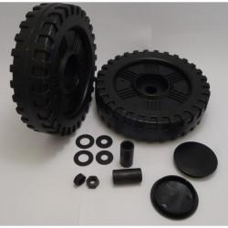 405714 Wheel set hard plastic D:155mm