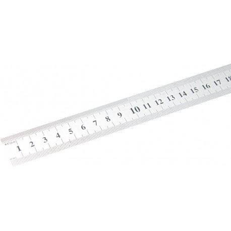 Stalen liniaal flexibel roestvrij 1 meter (mm en inch schaal)