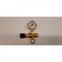 WEA1059 Messing reduceerventiel + manometer