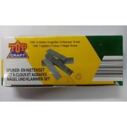 ETA6003 -1000 Nieten 16mm en 1500 Spijkers 16mm